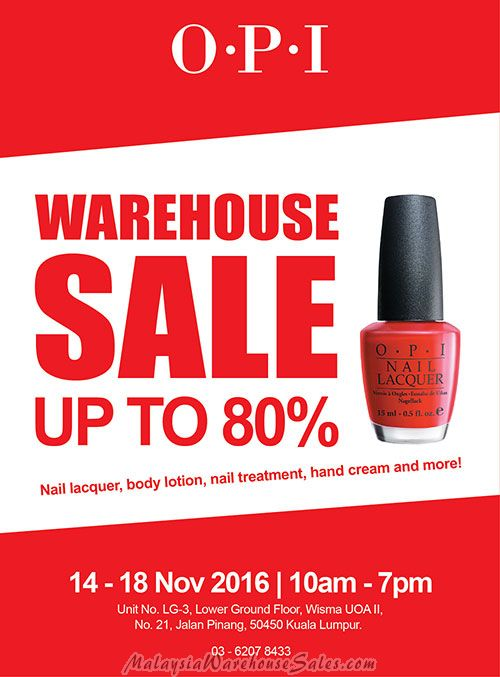 OPI Warehouse Sale 2016