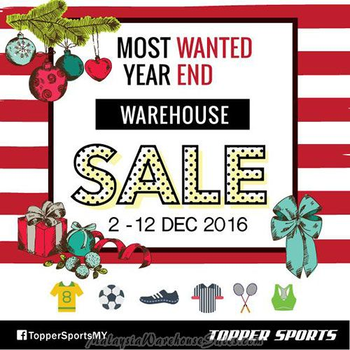 Topper Sports Warehouse Sale Dec 2016