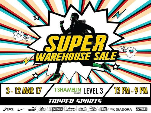 Topper Sports Warehouse Sale 2017