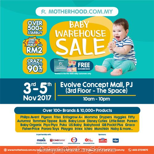Motherhood Warehouse Sale 2017
