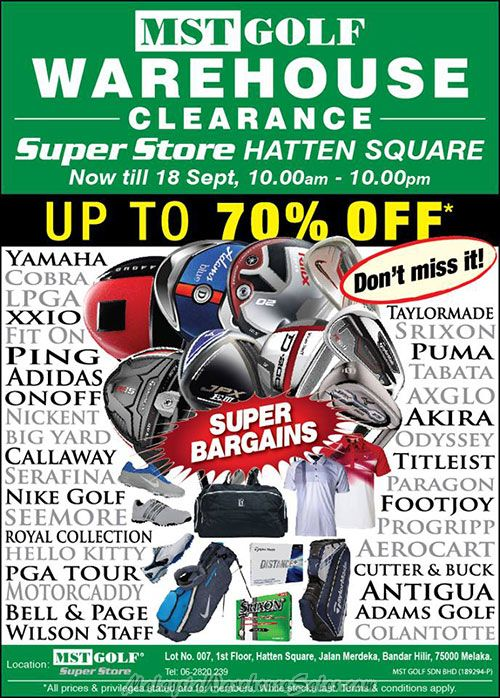 MST Golf Warehouse Clearance 2016