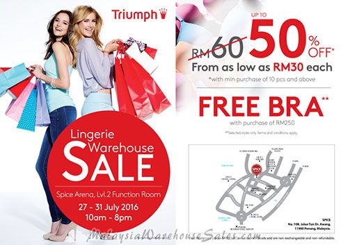 Triumph Lingerie Warehouse Sale 2016