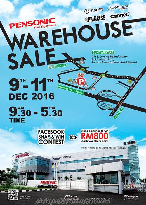 Pensonic Warehouse Sale 2016