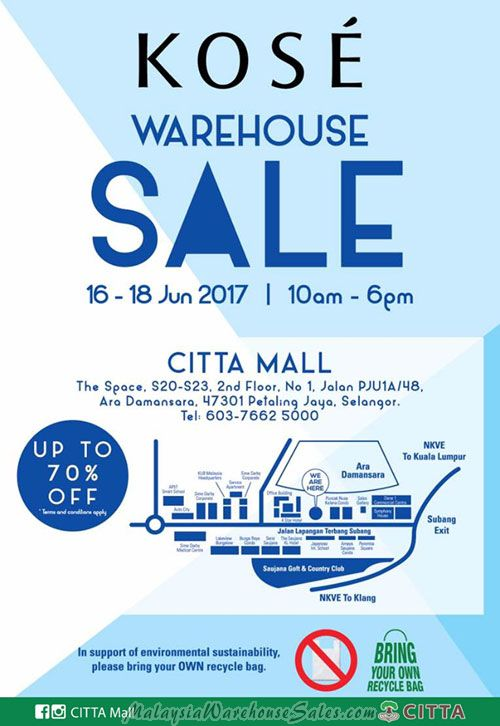 Kose Warehouse Sale 2017