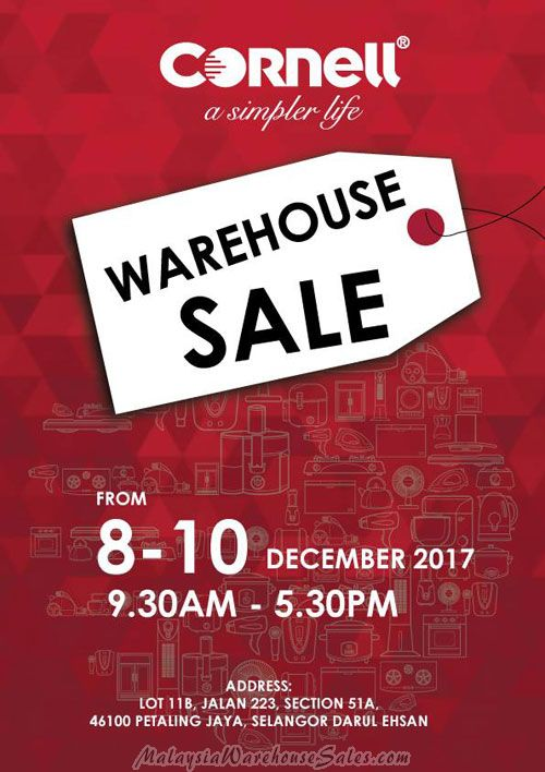 Cornell Warehouse Sale