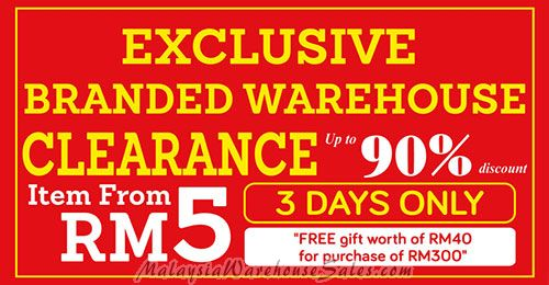 Exclusive Branded Warehouse Sale 2016