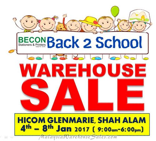 Becon Stationery Warehouse Sale 2017