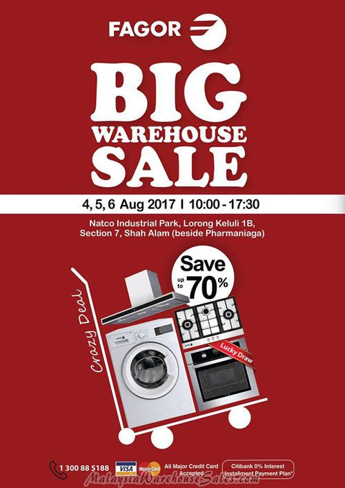 Fagor Warehouse Sale 2017
