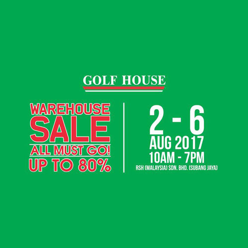 Golf House Warehouse Sale August 2017