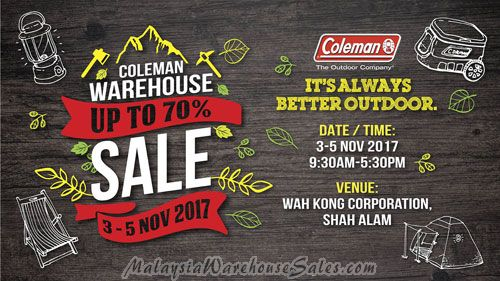 Coleman Warehouse Sale Nov 2017