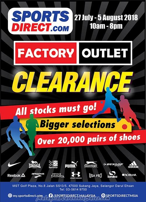 SportsDirect Factory Outlet Clearance