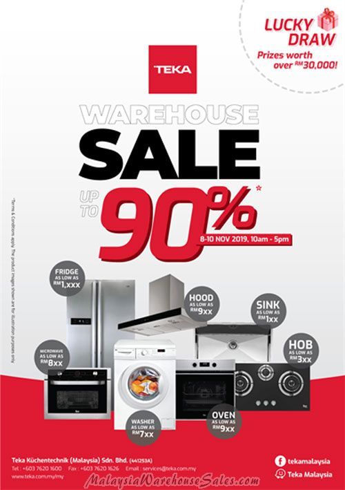 Teka Warehouse Sale 2019